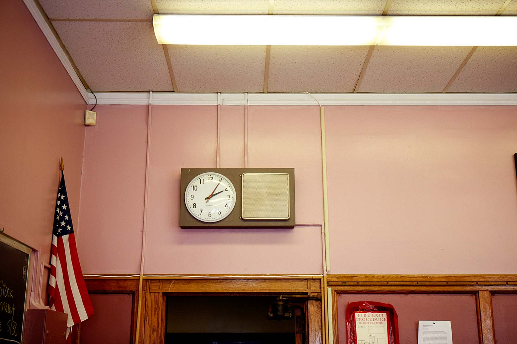 NJ High School classroom clock